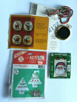 Lot of Christmas Ornaments Kit Santas and Trees Cross Stitch & Candlewicking NEW