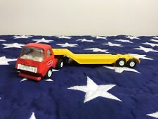 vintage tonka semi truck Pressed Steel red with yellow trailer