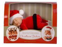 Anne Geddes Baby Santa Doll 9 inch Christmas Babies Bean Filled Collection BNIB