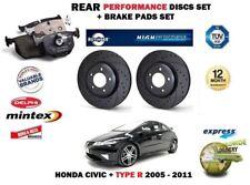 pour Honda Civic FN + Type R 2005- > arrière Performance Kit Disque frein +