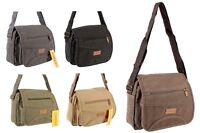 Womens Crossbody Shoulder Bag Ladies Canvas Messenger Satchel in Various Colours
