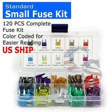 120PCS Mini & Standard Blade Fuse Assortment Auto Car Truck Fuse Kit APM, ATM