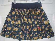 Abercrombie & Fitch Kids Girls Navy Yellow Floral Tiered Cotton Skirt Size Large