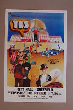 Yes Concert Tour Poster 1971 City Hall Sheffield