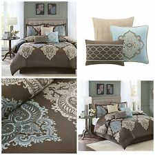 Madison Comforters And Bedding Set EBay - Blue and brown comforter sets