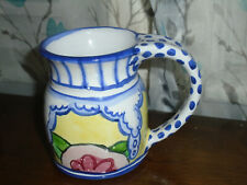 Damariscotta Pottery 2008 Signed Red Earthenware Clay Mug Maine Polka Dots