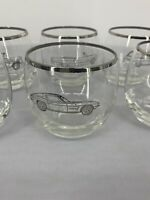 Set of 6 Vintage Muscle Car Whiskey Bar Cocktail Roly Poly Glasses