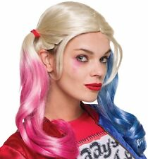 Deluxe Harley Quinn Costume Wig Suicide Squad Adult DC Comics Quin - Fast Ship -