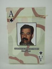 Saddam Hussein Al-Tikriti President Playing Cards Sealed Deck War Most Wanted