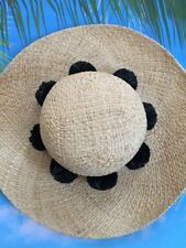 KATE SPADE NWT SUNHAT WITH BLACK POMS SUMMER