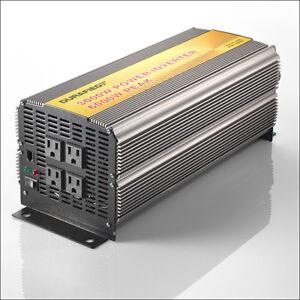 BRAND NEW DURAFIED 3000/6000W POWER INVERTER 12V DC TO 115/120V AC!