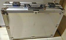 Roncato Classic Italian Hard Metal Executive Briefcase Color Silver Lightweight