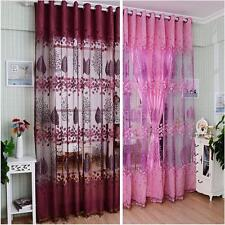 Unbranded Voile Floral Curtains
