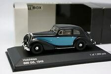 White Box 1/43 - Hotchkiss 686 GS 1949 Noire et Bleue