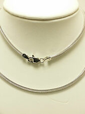 18k Solid White Gold Italian Wheat Necklace/ Chain 8.90 Grams