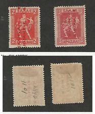 Greece, Postage Stamp, #N136-N137 Mint Hinged, 1912, JFZ