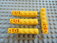 Lego 4 x Bogenstein 42023  gelb  6x1   invers 7344 7774 8275 4513