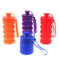 Collapsible Water Bottle,  Silicone Foldable Travel Water Bottle AB