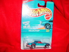 HOT WHEELS #471 VELOCITOR BLUE & WHITE 5 SPOKE RED INTERIOR FREE USA SHIPPING