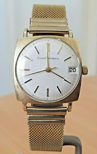 Vintage Girard Perregaux GP silver dial Swiss made watch 17j wind - minor issue.