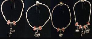 Silver color Bracelet w/ CheerLeader Charm Or I Love to Cheer Charm Mega Phone