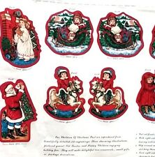 Cranston Craft Fabric Panel Sew N Stuff 8 Ornaments Front Back Christmas Santa