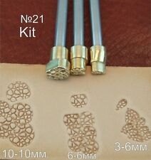 Leather working tools Carving Punches Stamp Craft Saddle Making Brass #21 SET
