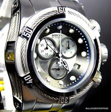 Invicta Reserve Bolt Zeus 52mm Silver Tone Stainless Steel Chronograph Watch New