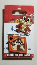 Disney Pins Chip 'n' Dale Chipmunks diamond shaped #95557 & Pixel Chip #121133