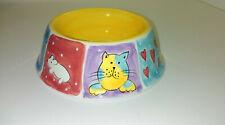 "New listing Hausenware Meow 2002 Cat Bowl Dish ceramic 5"" Kitten Food Water"