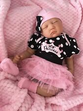 "CHERISH DOLLS REBORN DOLL CHEAP BABY GIRL PRINCESS 22"" NEWBORN REAL LIFELIKE UK"
