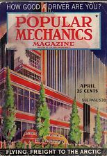1937 Popular Mechanics April -How Howard Hughes broke the speed record;Trailers