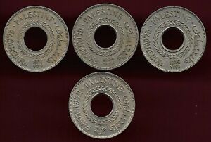 Palestine lot of 4 X 5 mils coin 1927 1934 1935 1946