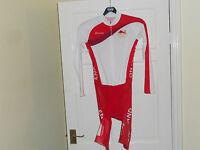 NEW KUKRI TEAM ENGLAND Common Wealth 2014 skinsuit padded bike shorts NALINI GB