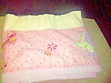 Lambs & Ivy Jungle Luv Window Valence Crib Baby Nursery Pink Dot Yellow Animals