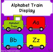 Treno ALFABETO schermo numero insegnamento in classe risorse KS1 eyfs childminder