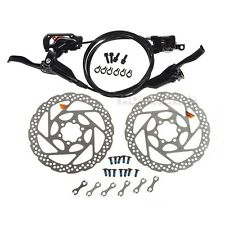 Shimano BR-M446 BL-M445 Hydraulic Brake Front and Rear Black RT56 160mm Rotor