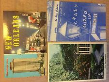 Vtg New Orleans Intl Trade Mart Little Theater Courtyard Bourbon St Postcard Lot