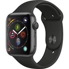 Reloj de Apple serie 4 GPS 44mm Gris espacial Caso Con Banda Negra Sport MU6D2LL/A
