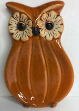 Cracker Barrel Country Store Owl Spoon Rest Stoneware