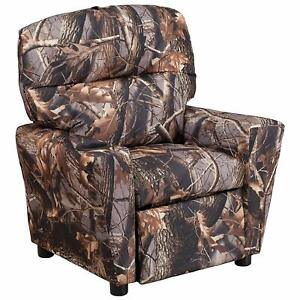 Flash Furniture Camouflaged Fabric Kids Recliner with Cup Holder New