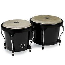 Latin Percussion LP Aspire Fiberglass Bongos Black