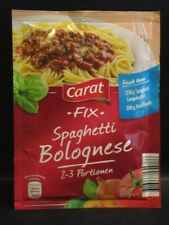 9 bags x Carat Fix-Spaghetti Bolognese Sauce fresh from Germany New