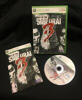 XBOX 360 Way of the Samurai 3 with Case & Manual UFO