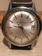 Vintage ETERNA - MATIC Automatic Men's Swiss Stainless Watch Parts or Repair