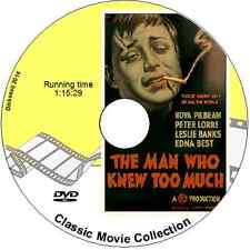 The Man Who Knew Too Much Edna Best, Leslie Banks Drama 1935 DVD Hitchcock
