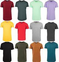 URBAN CLASSICS Herren Shaped Long Tee T-Shirt Extra Lang Oversize