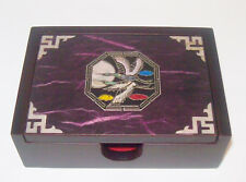 Asian Flying Geese Moon Mother of Pearl Abalone Wood Cigarette Box Case