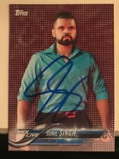 Sinil Singh Signed WWE Topps 2018 Card