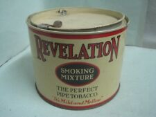 Antique Philip Morris Revelation smoking mixture pipe tobacco advertising tin